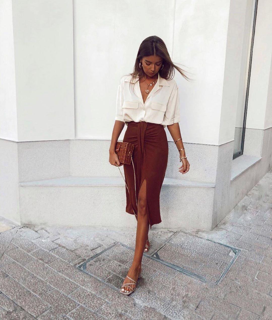 blouse satinée à poches de Zara sur zara.outfits
