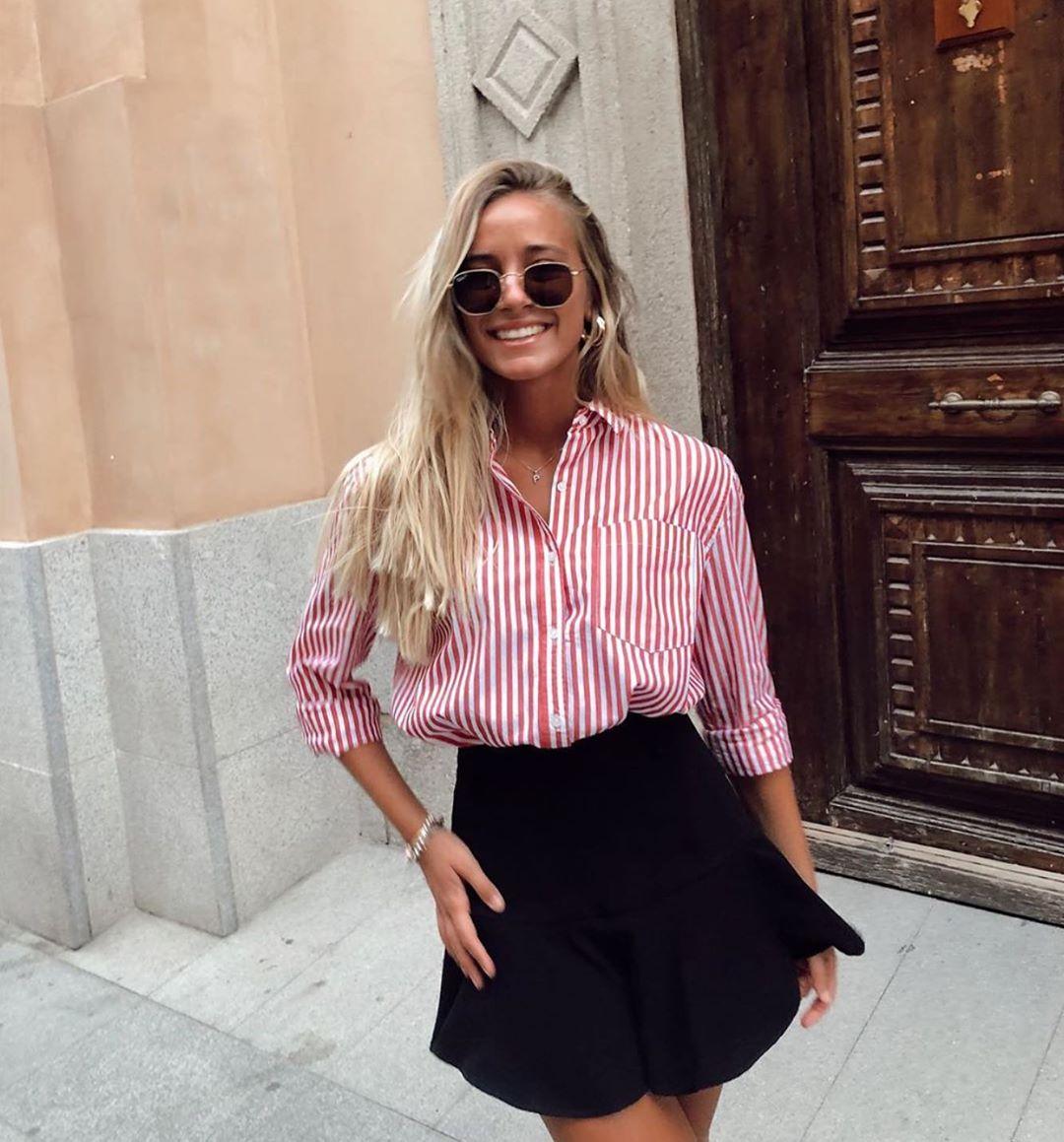 jupe-short à plis plats de Zara sur zara.outfits