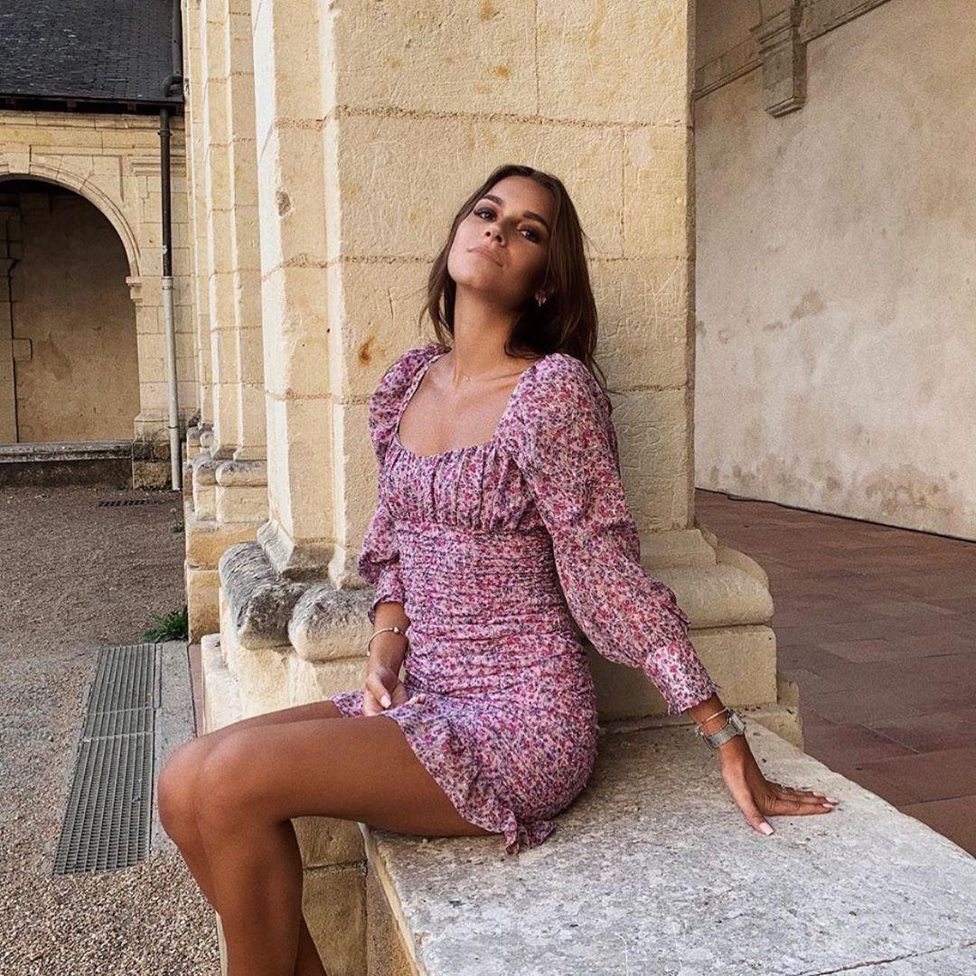robe drapée imprimée de Zara sur zara.outfits