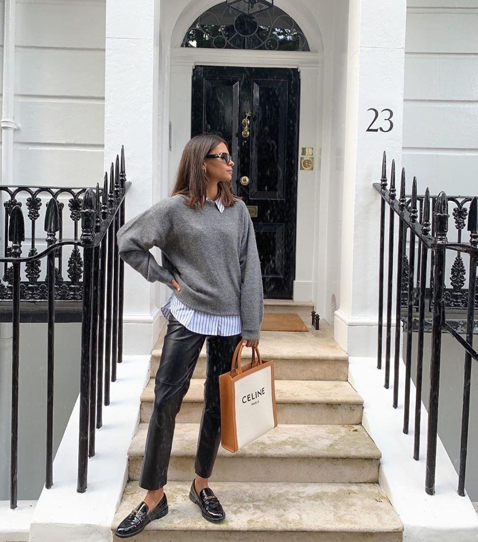 mocassins à boucle métallisée de Zara sur zara_streets