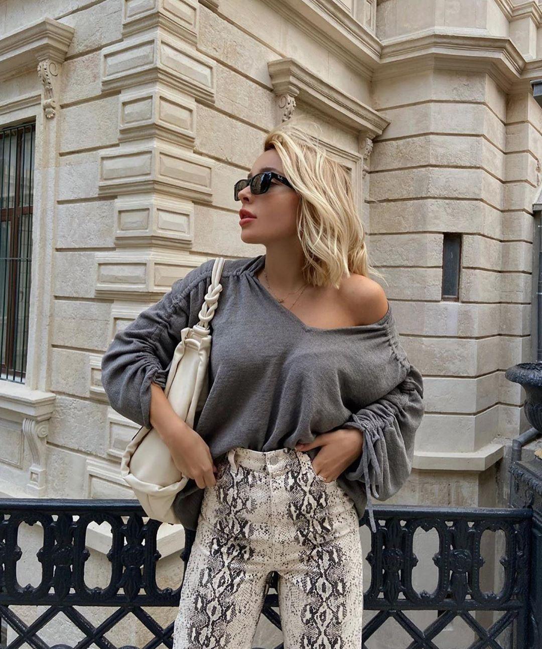 pull en maille à fronces de Zara sur zara.outfits