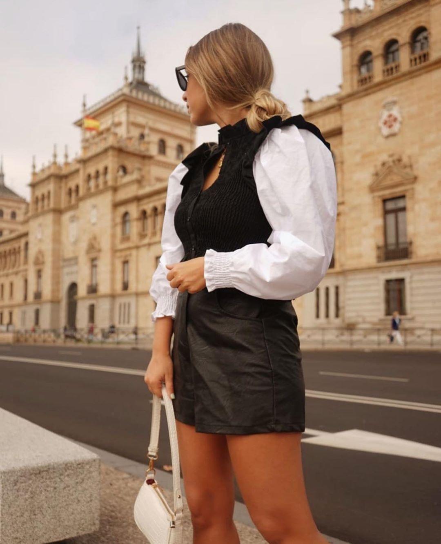 blouse en matières variées avec élastiques de Zara sur zara.outfits