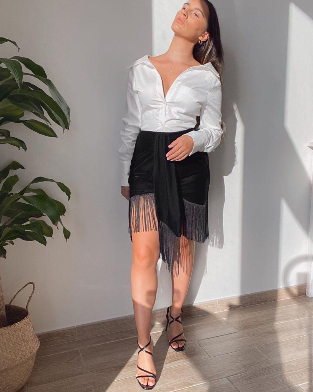 fringed velvet mini skirt de Zara sur zara.style.daily