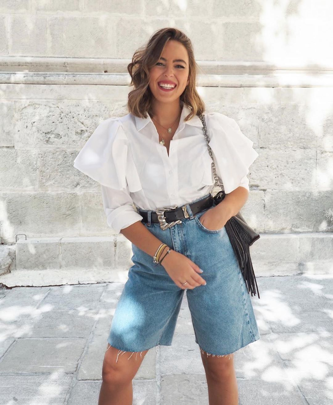 short mi-long de Zara sur zara.outfits