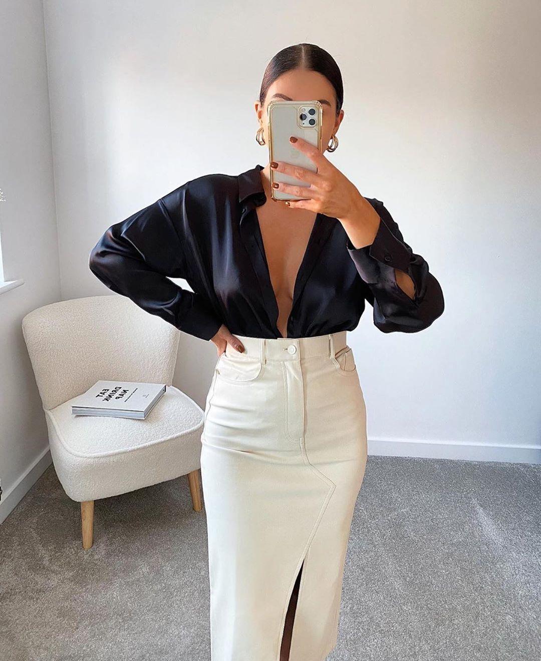 jupe zw premium worker de Zara sur zara.outfits