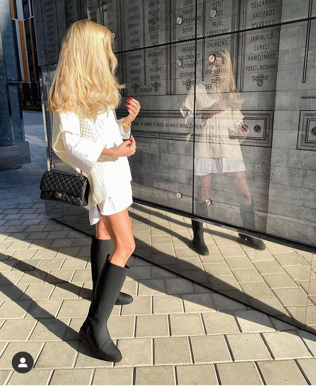 leather rain boots de Massimo Dutti sur zara_hm_look_style