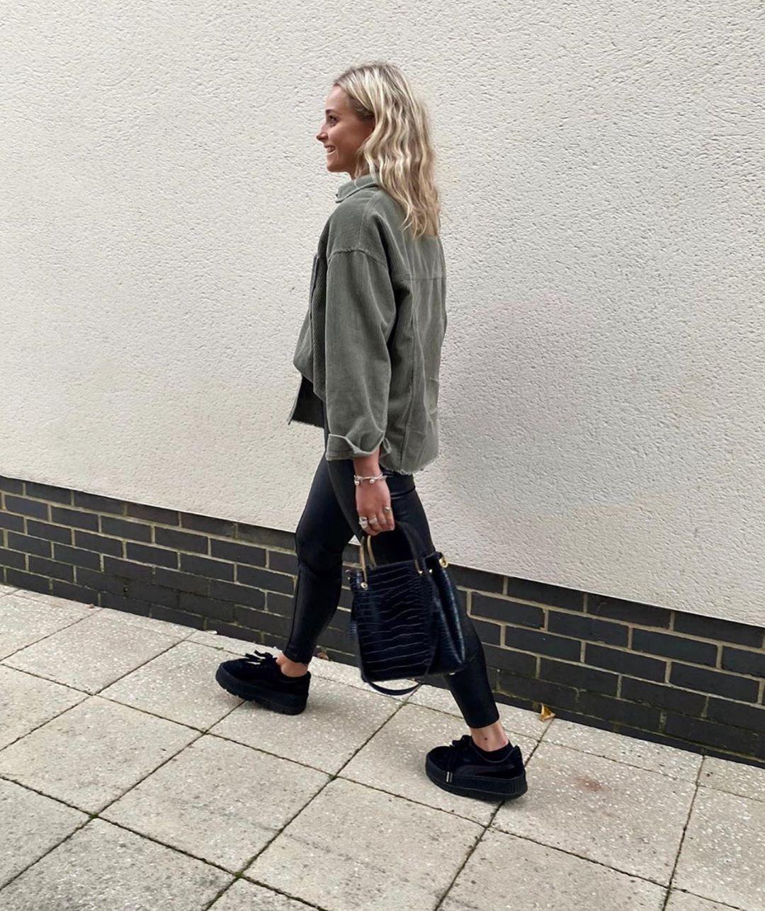 legging à effet ciré de Zara sur zara.outfits