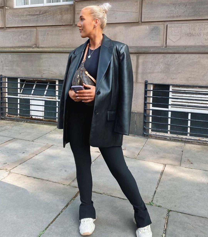 straight synthetic leather jacket de Zara sur zara.style.daily