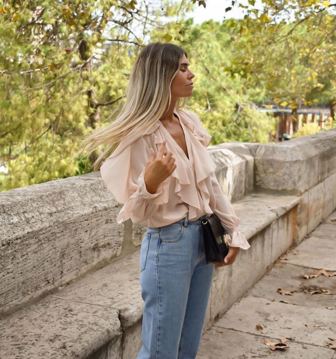 chemise rustique à volants de Zara sur zara.outfits