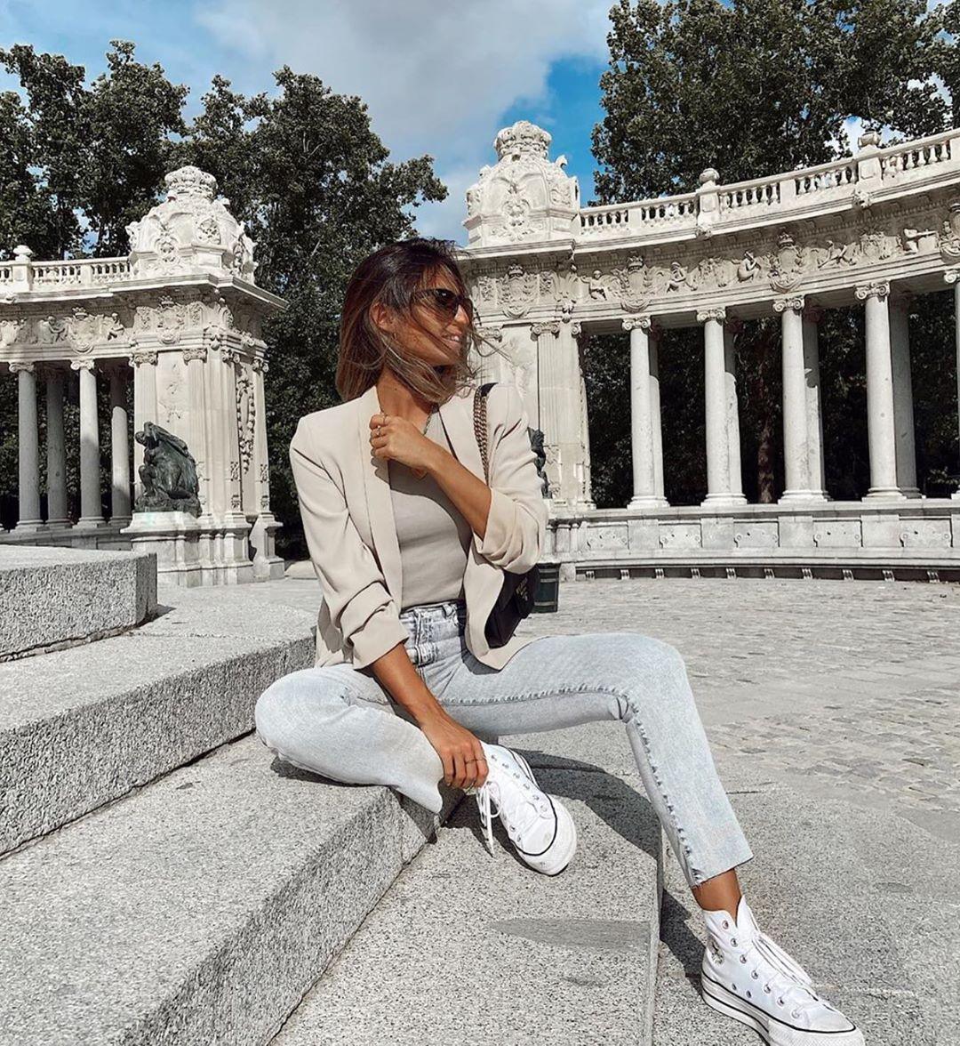 veste à manches retroussées de Zara sur zara.outfits