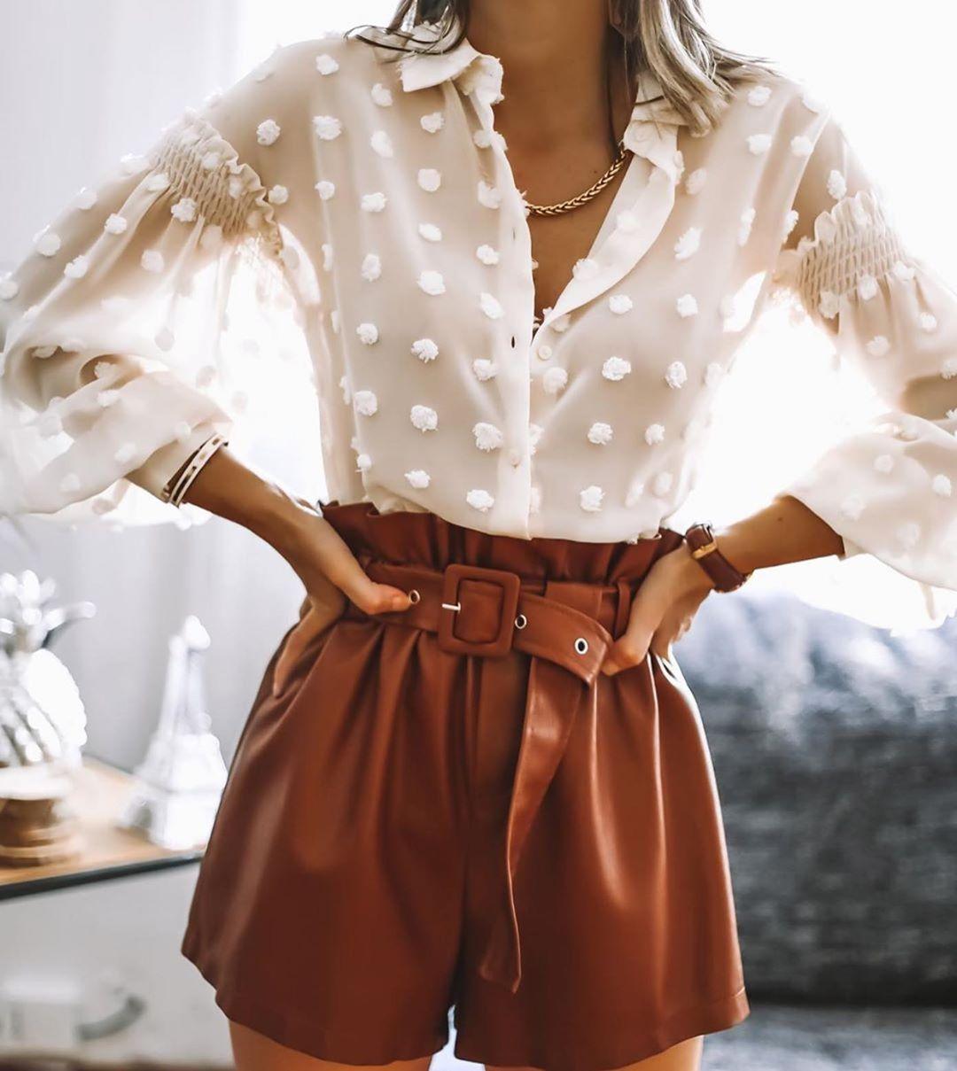 blouse à pois de Zara sur zara.outfits