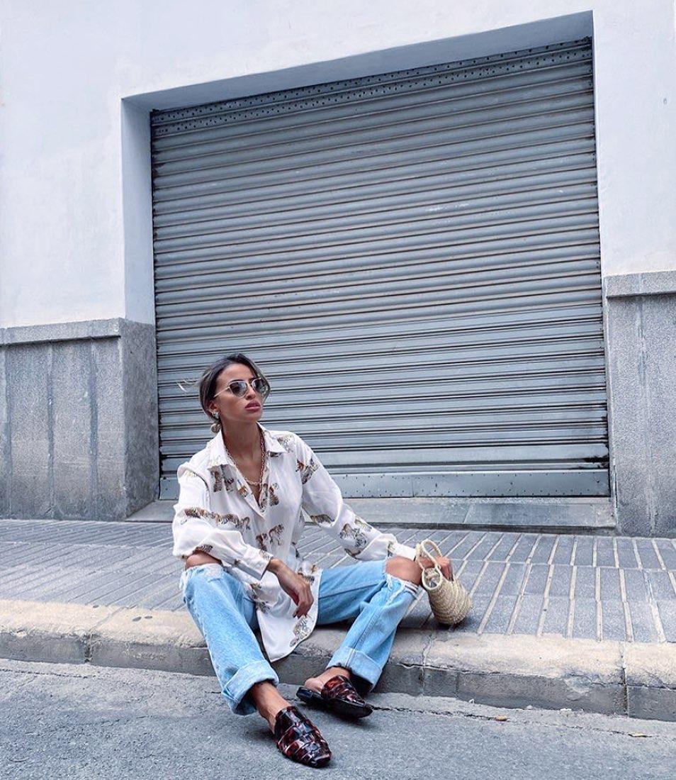 jeans brokens de Mango sur mangoooutfits