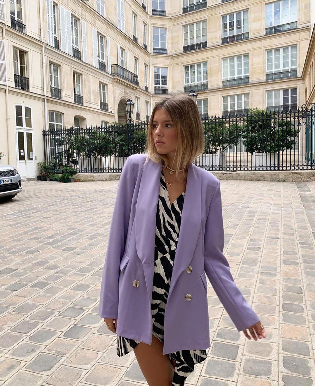 veste longue à boutonnage croisé avec boutons métalliques de Zara sur zara.outfits