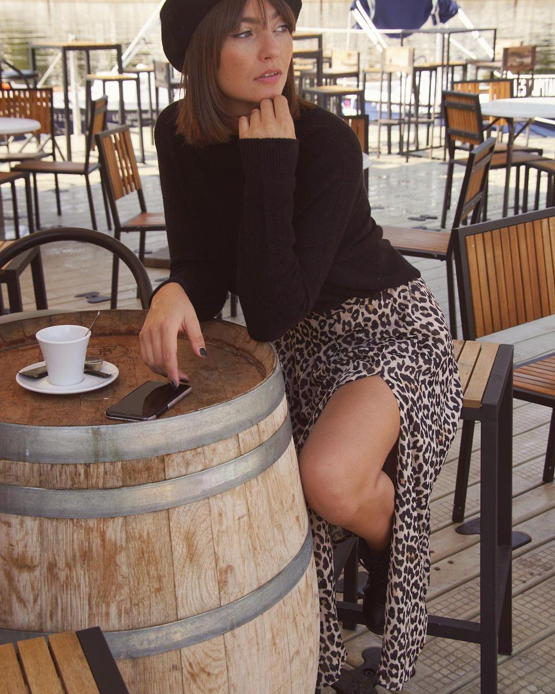 jupe fendue léopard de Les Bourgeoises sur lesbourgeoisesofficiel