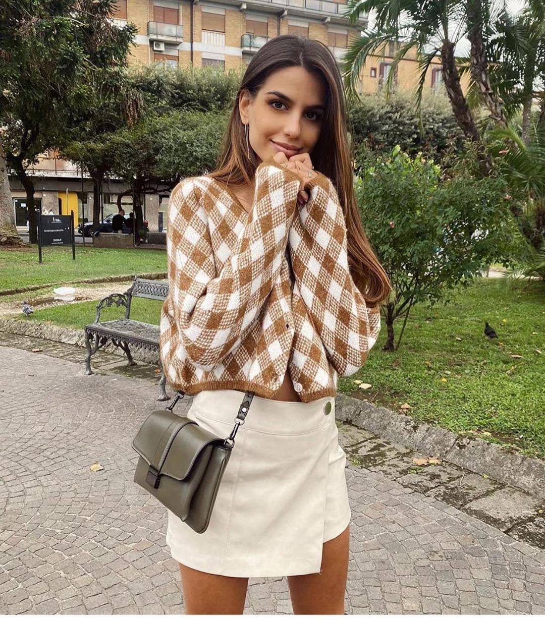 top en maille à losanges de Zara sur zara.outfits