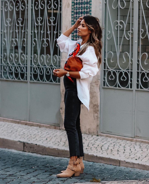 chemise en popeline extra longue de Zara sur zara.outfits