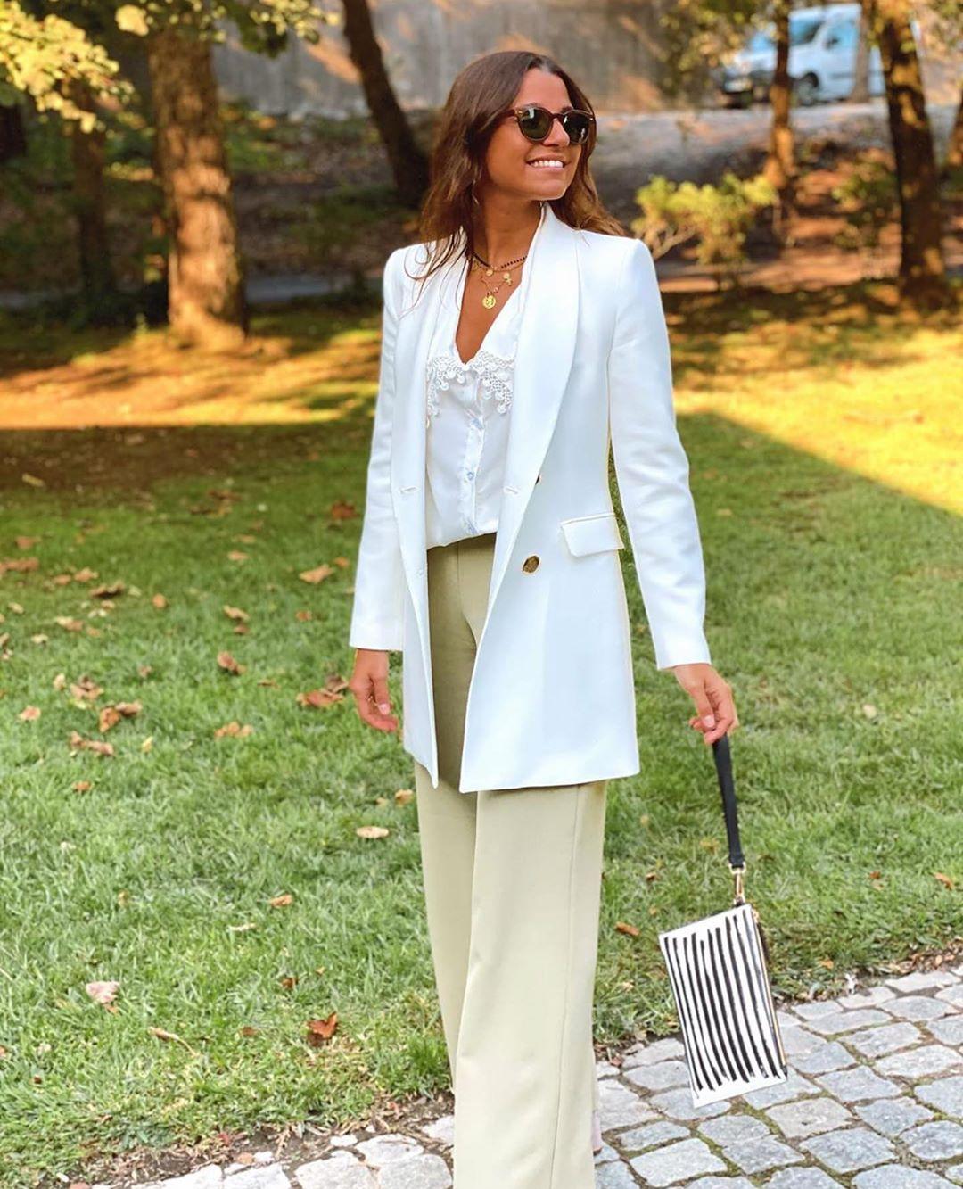 veste longue à boutonnage croisé de Zara sur zara.outfits