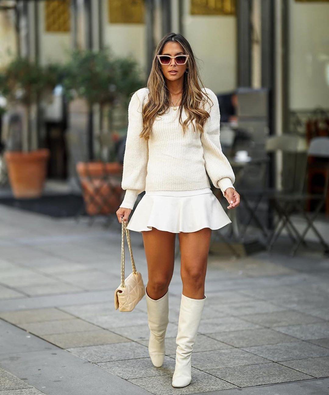 jupe-short à noeud de Zara sur zara.outfits