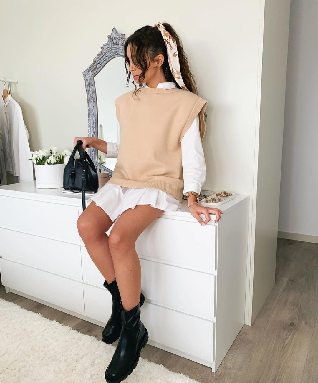 bottines plates à semelles track de Zara sur zara.outfits