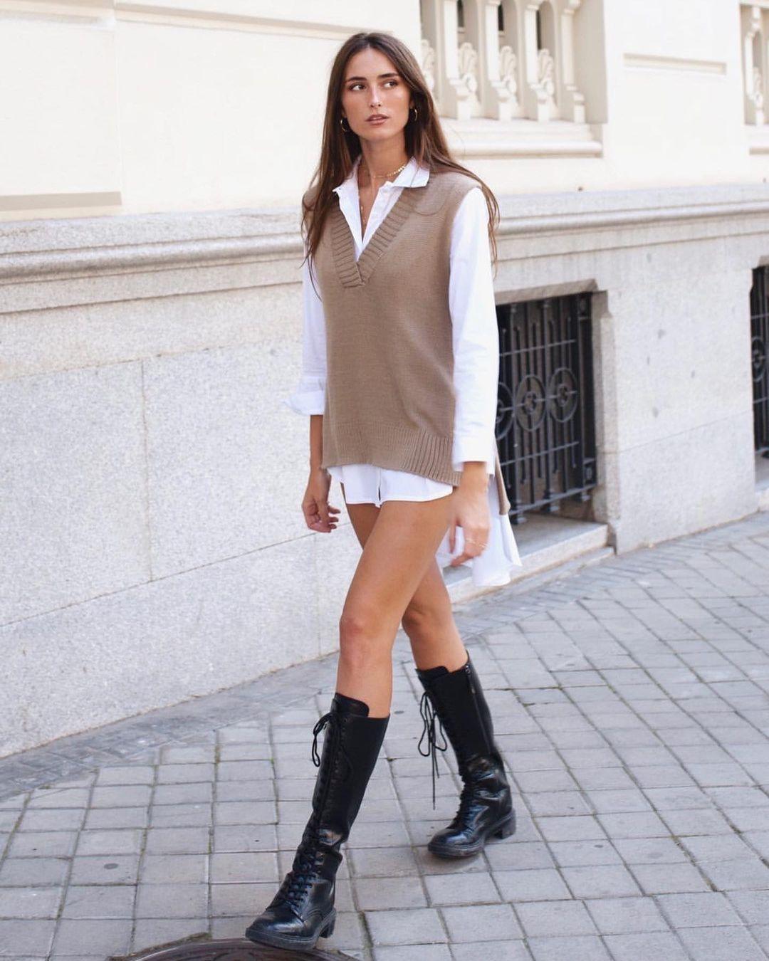 lace-up flat boots de Zara sur zaraaddiction