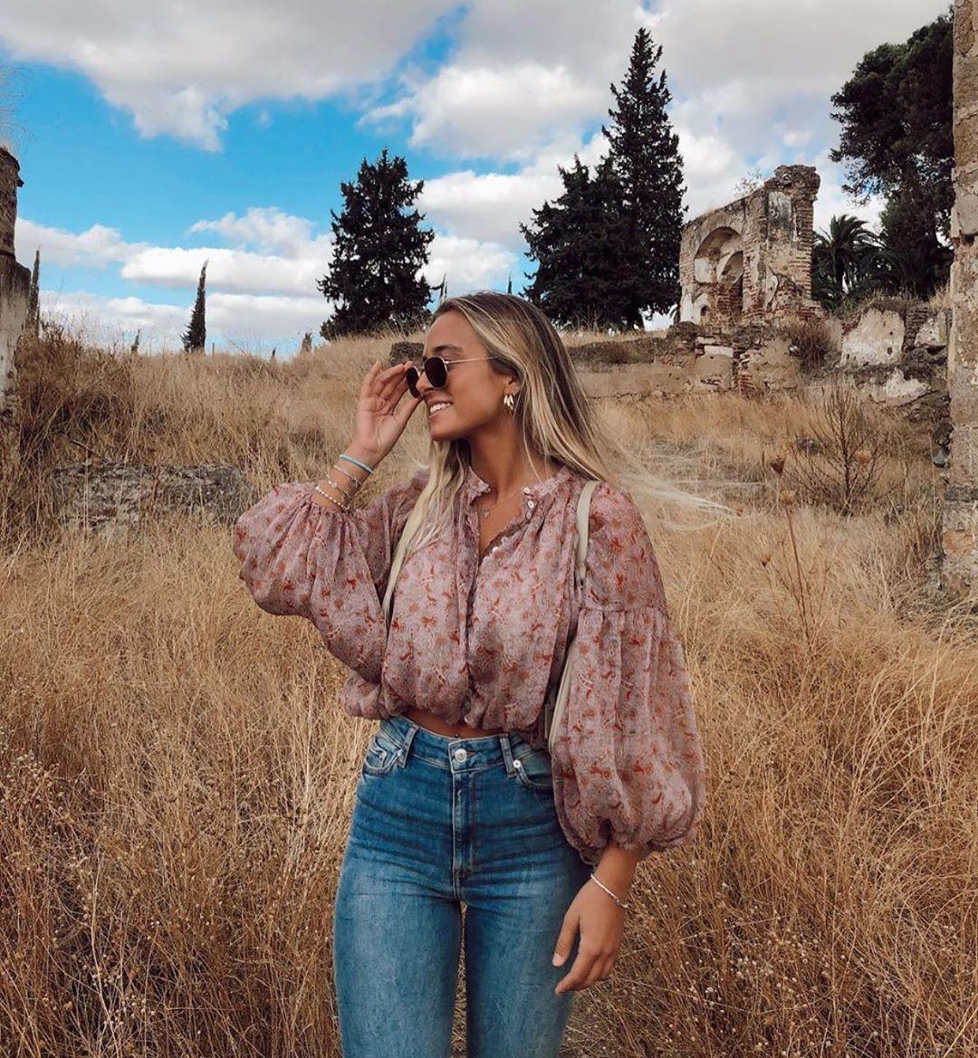 blouse courte imprimée de Zara sur zara.outfits