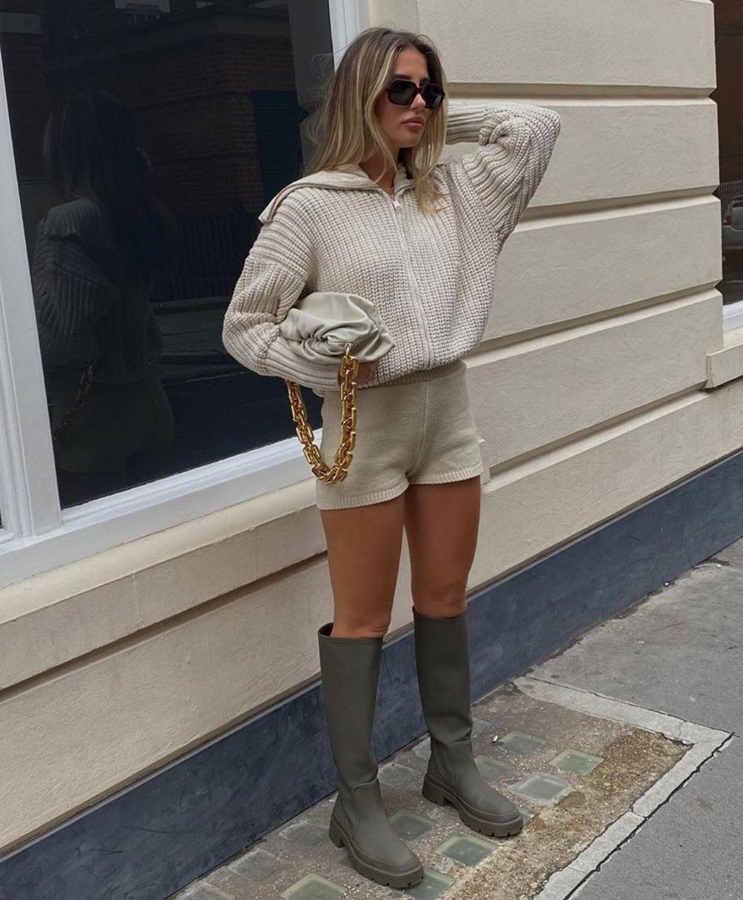 gummed flat boots de Zara sur zara.style.daily
