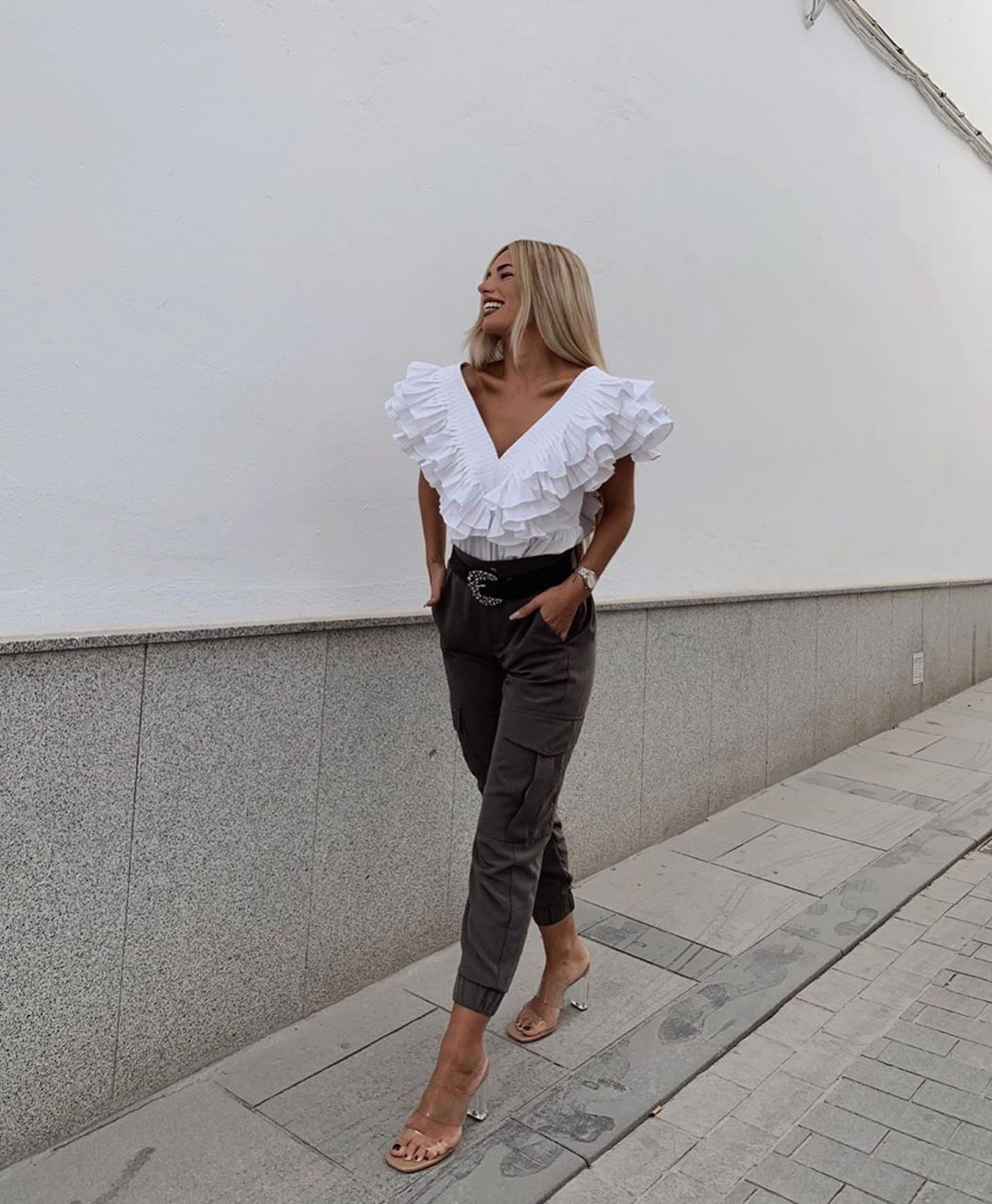 top à volants de Zara sur zara.outfits