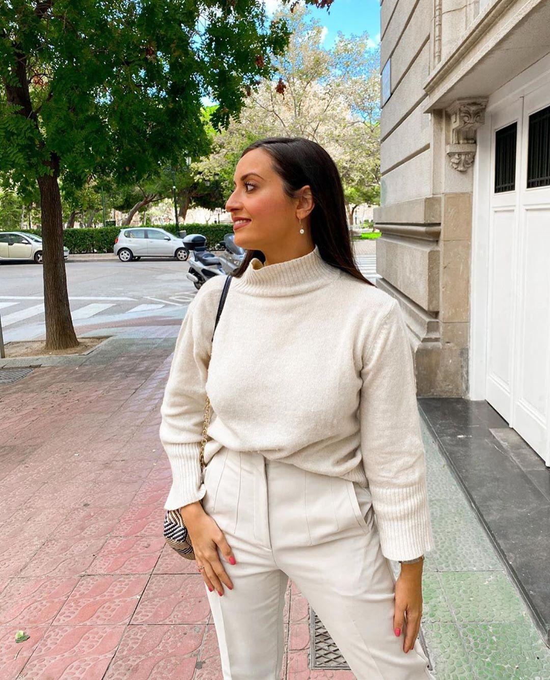 pull en maille avec laine de Zara sur zara.outfits