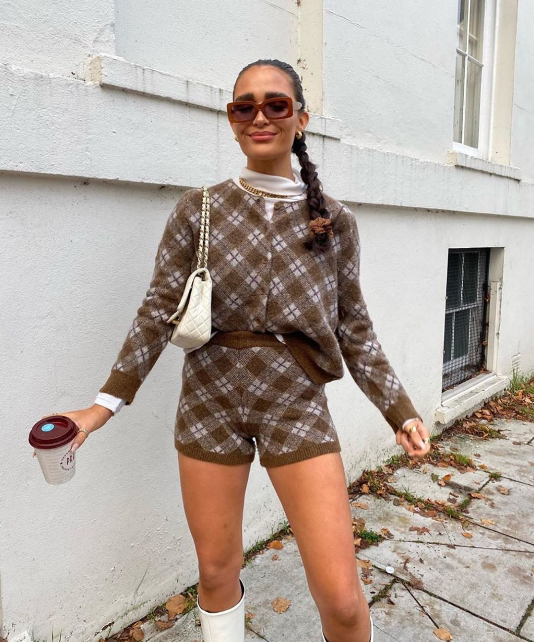 diamond knit top de Zara sur zarastreetstyle
