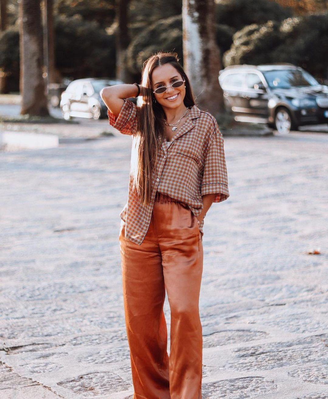 pantalon style pyjama à fentes de Zara sur zara.outfits