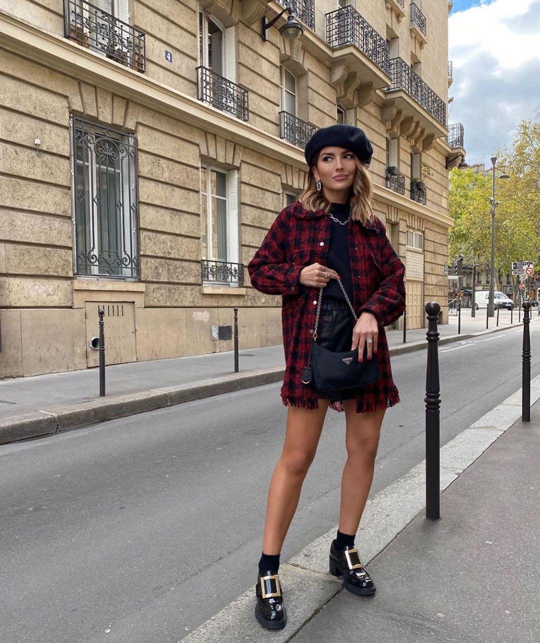 plaid shirt and belt de Zara sur zarastreetstyle
