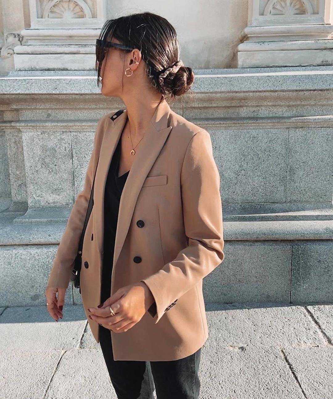 veste à boutonnage croisé de Zara sur zara.outfits