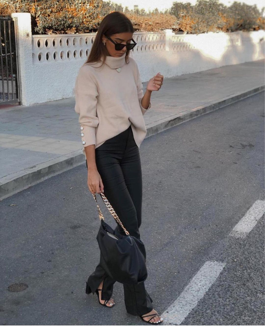 legging effet cuir extra long de Zara sur zara.outfits