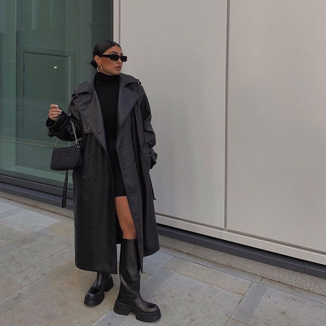high and flat boots with track soles de Zara sur zarastreetstyle