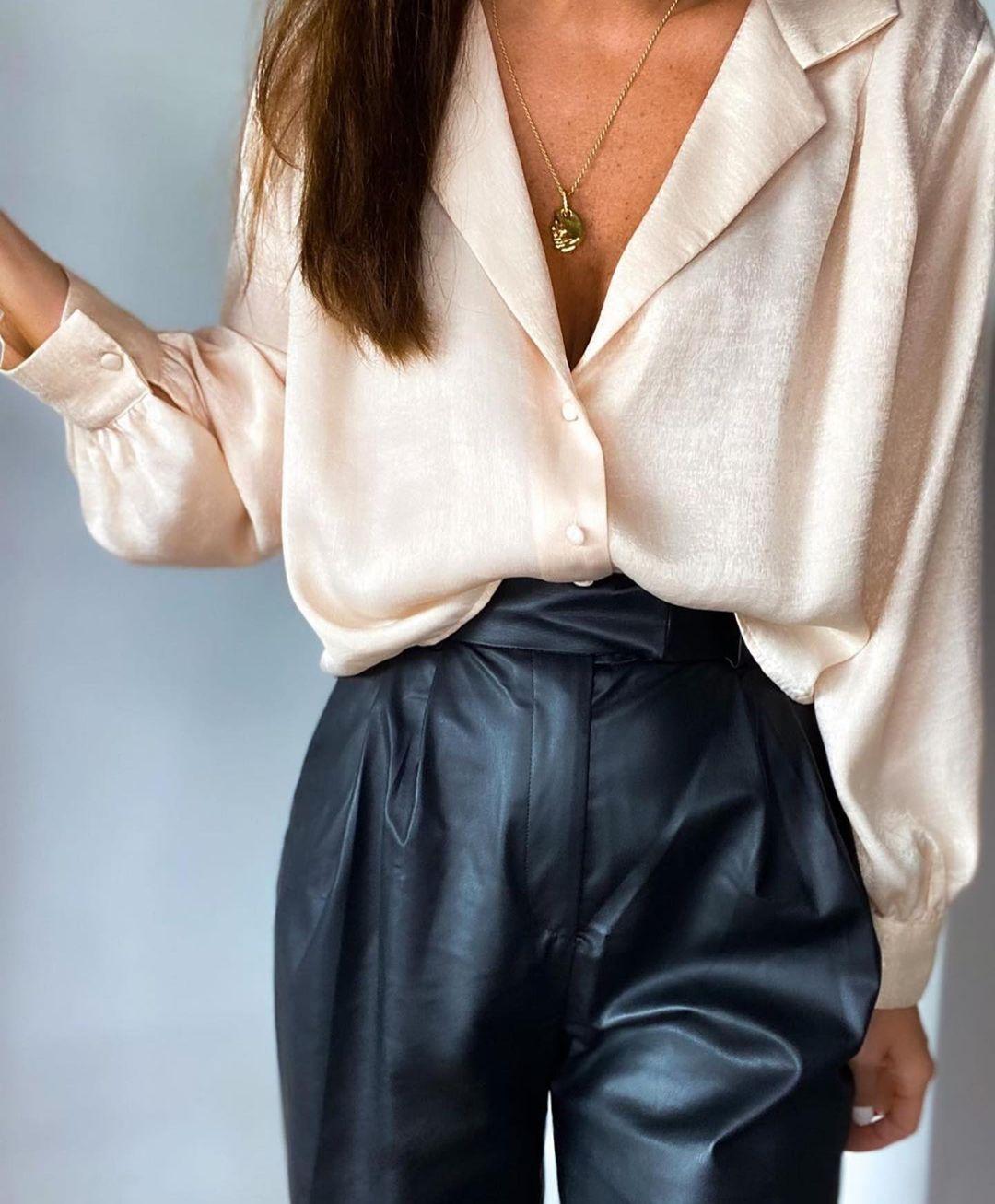 pantalon en cuir synthétique de Zara sur zara.outfits