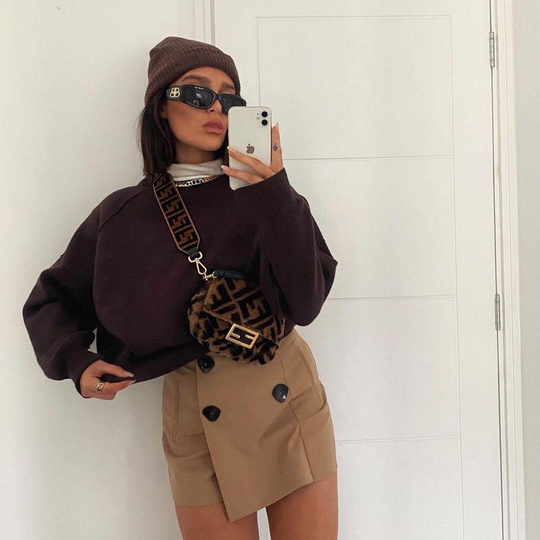 double button skirts de Zara sur zara.style.daily