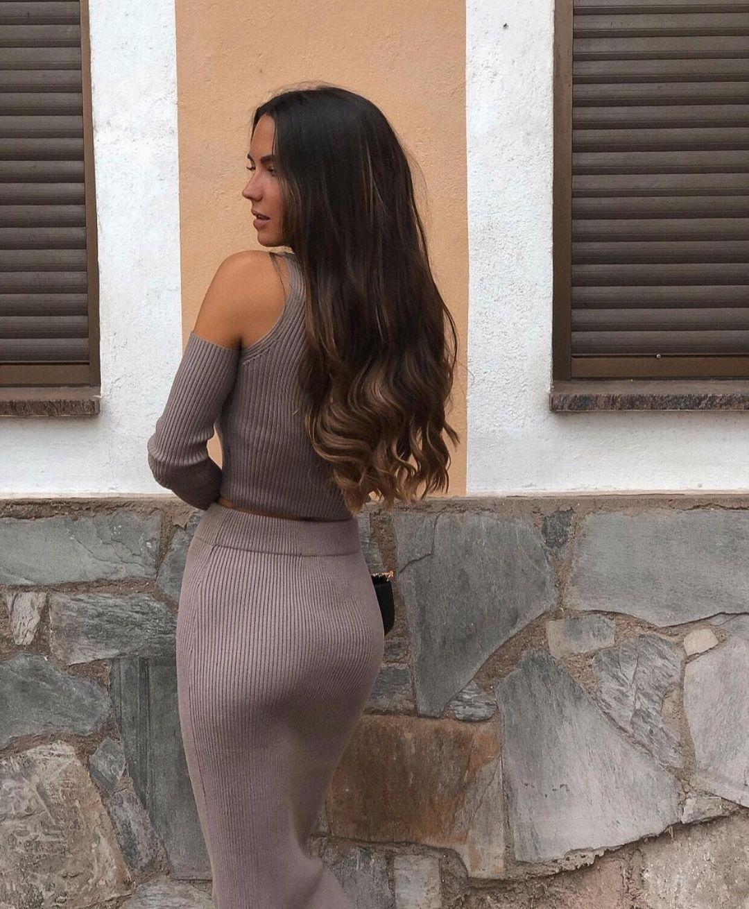 jupe en maille longue de Zara sur zara.outfits