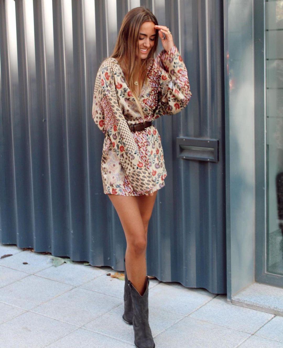 robe combinaison imprimée de Zara sur zara.outfits