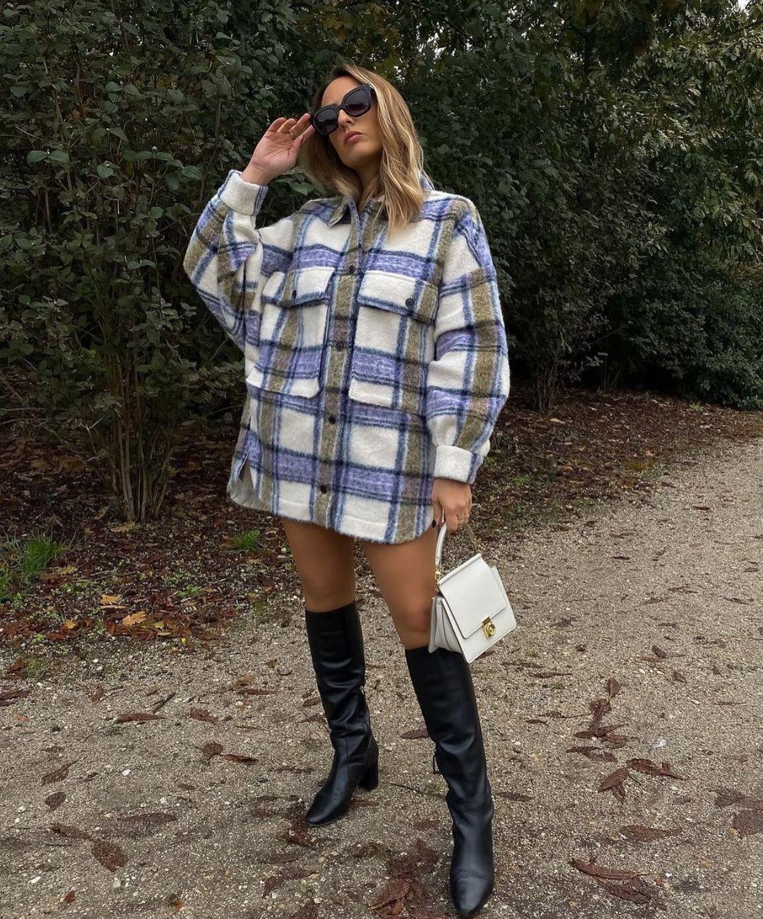 oversized checkered overshirt de Zara sur zara.style.daily