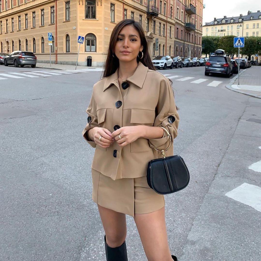 surchemise avec poches plaquées de Zara sur zara.outfits