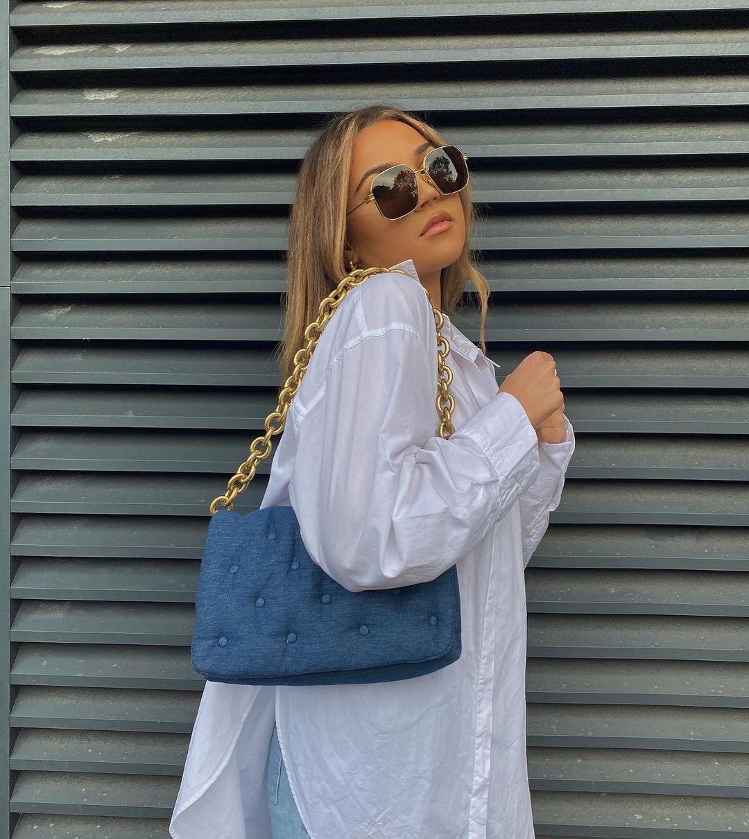 maxi padded denim crossbody bag de Zara sur zara.style.daily