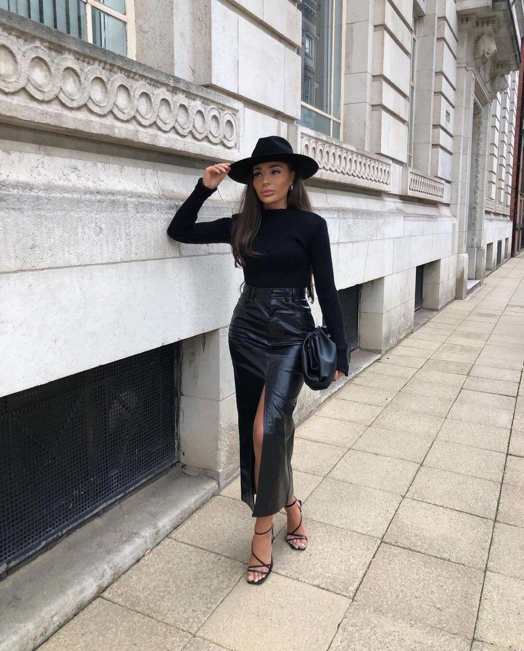 jupe effet cuir délavé de Zara sur zara.outfits