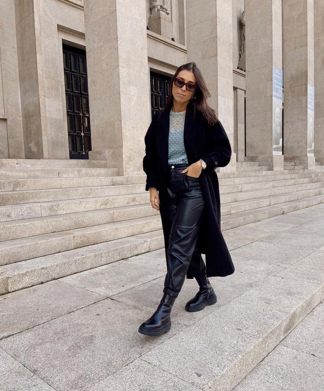 manteau avec laine et ceinture de Zara sur zara.outfits