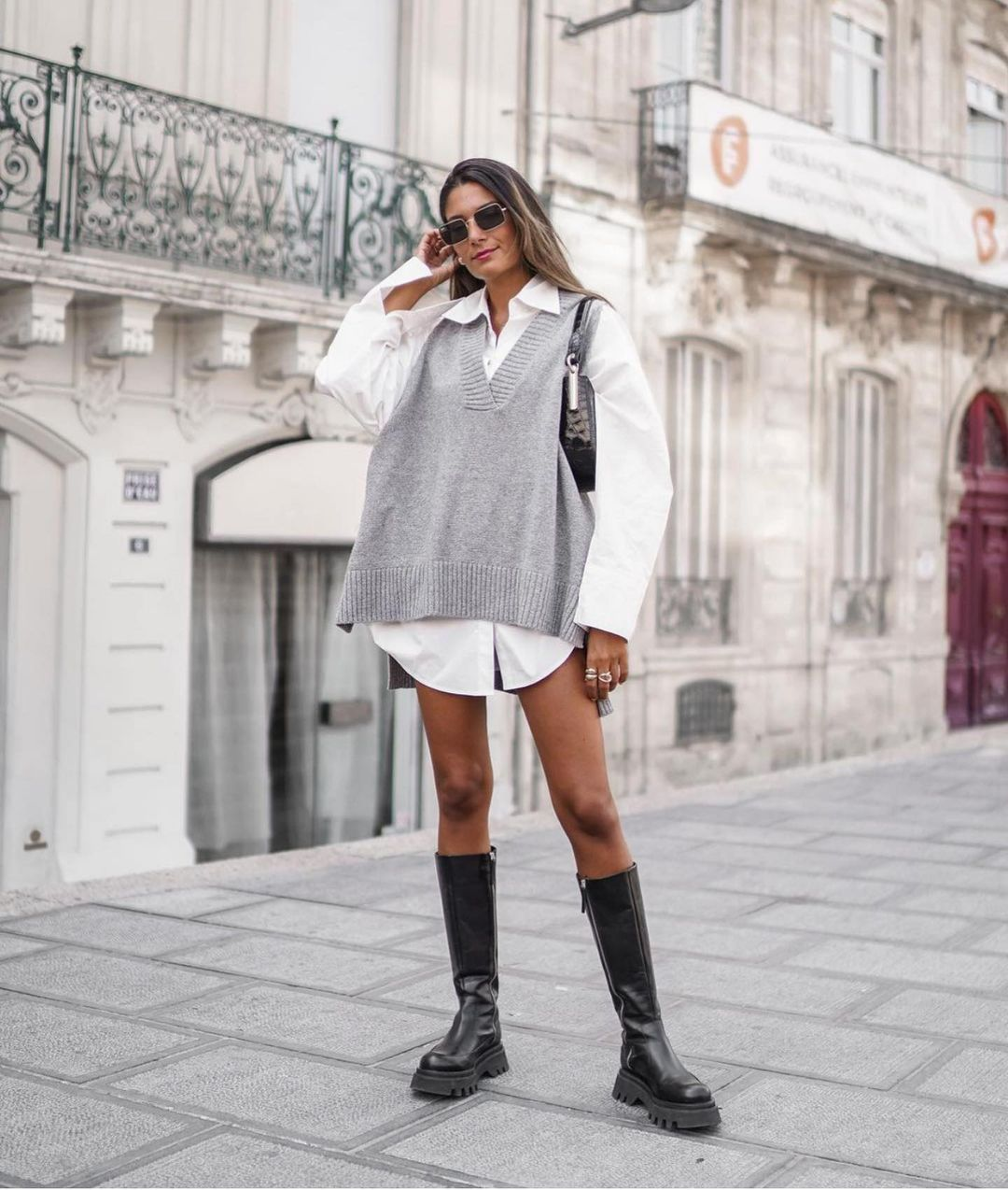 bottes en cuir semelle track de Zara sur zara.outfits