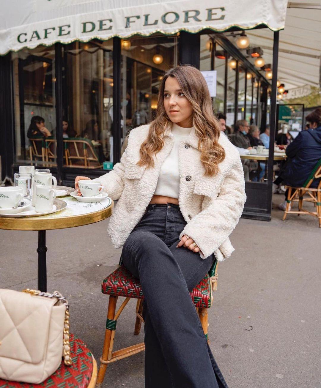 veste double face effet mouton de Zara sur zara.outfits