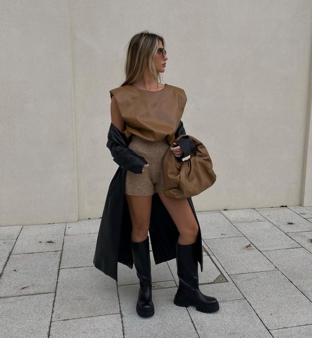 ribbed shorts de Zara sur zarastreetstyle