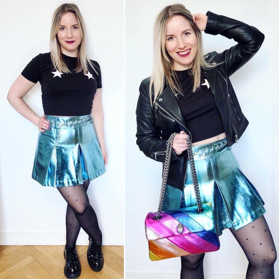 metallic skirt de Bershka sur ixelloisechic