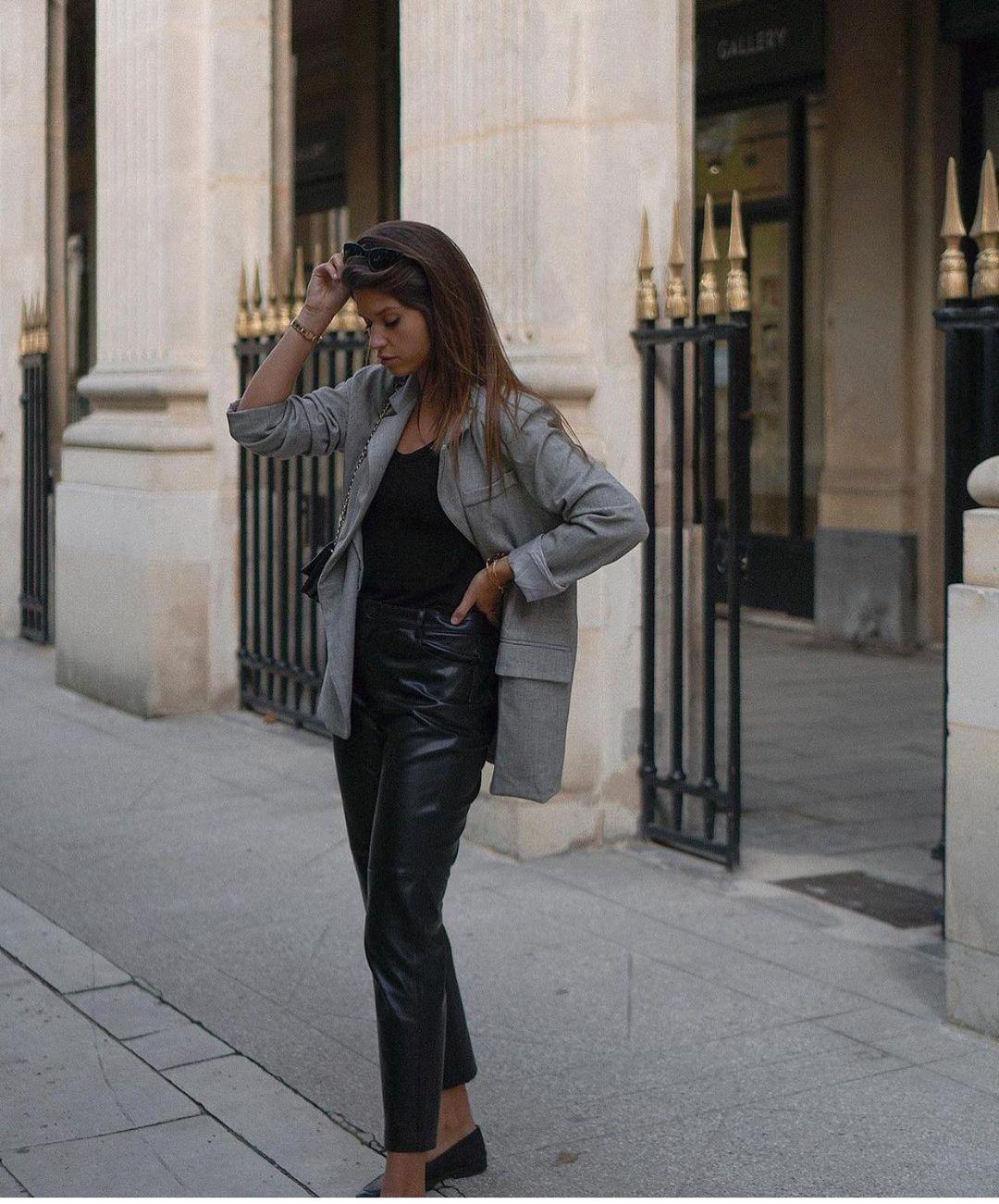 pantalon en cuir souple de Zara sur zara.outfits