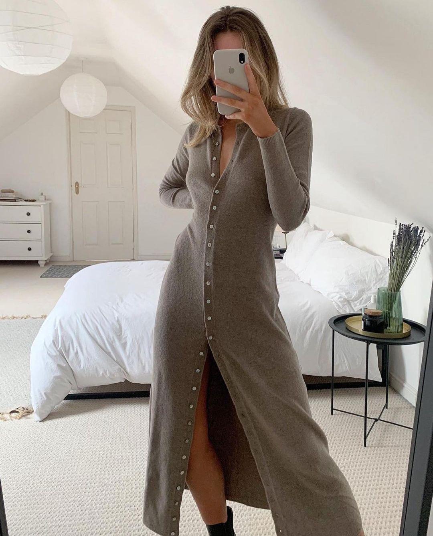 long knit dress de Zara sur zaraaddiction