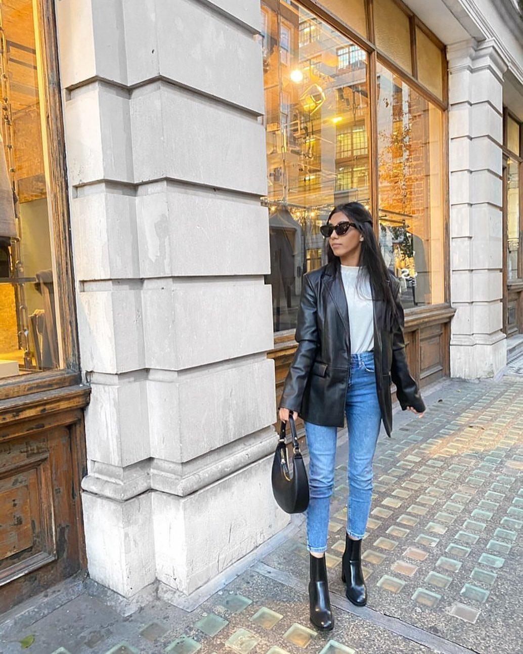 leather effect jacket de Zara sur zarastreetstyle
